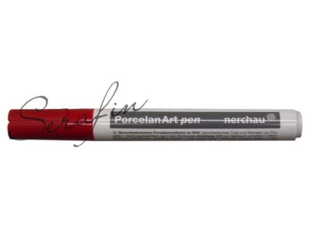 Fixa na porcelán NERCHAU PORCELAN ART - červená