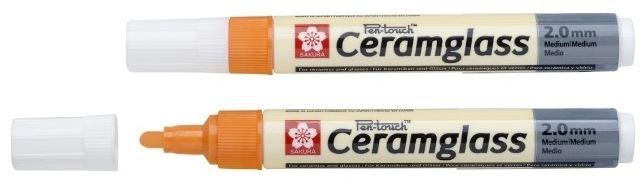 Fixa na porcelán SAKURA CERAMGLASS - oranžová silná