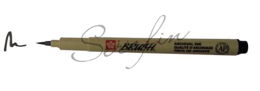 SAKURA PIGMA Brush - umělecký štětec - černá