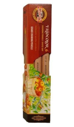 Pastelky TRIOCOLOR - natur 6 ks