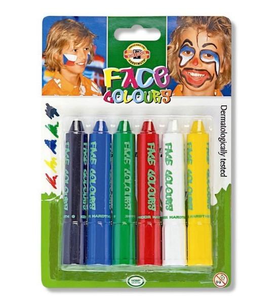 Tužky na obličej velké 6 x 4,7 g