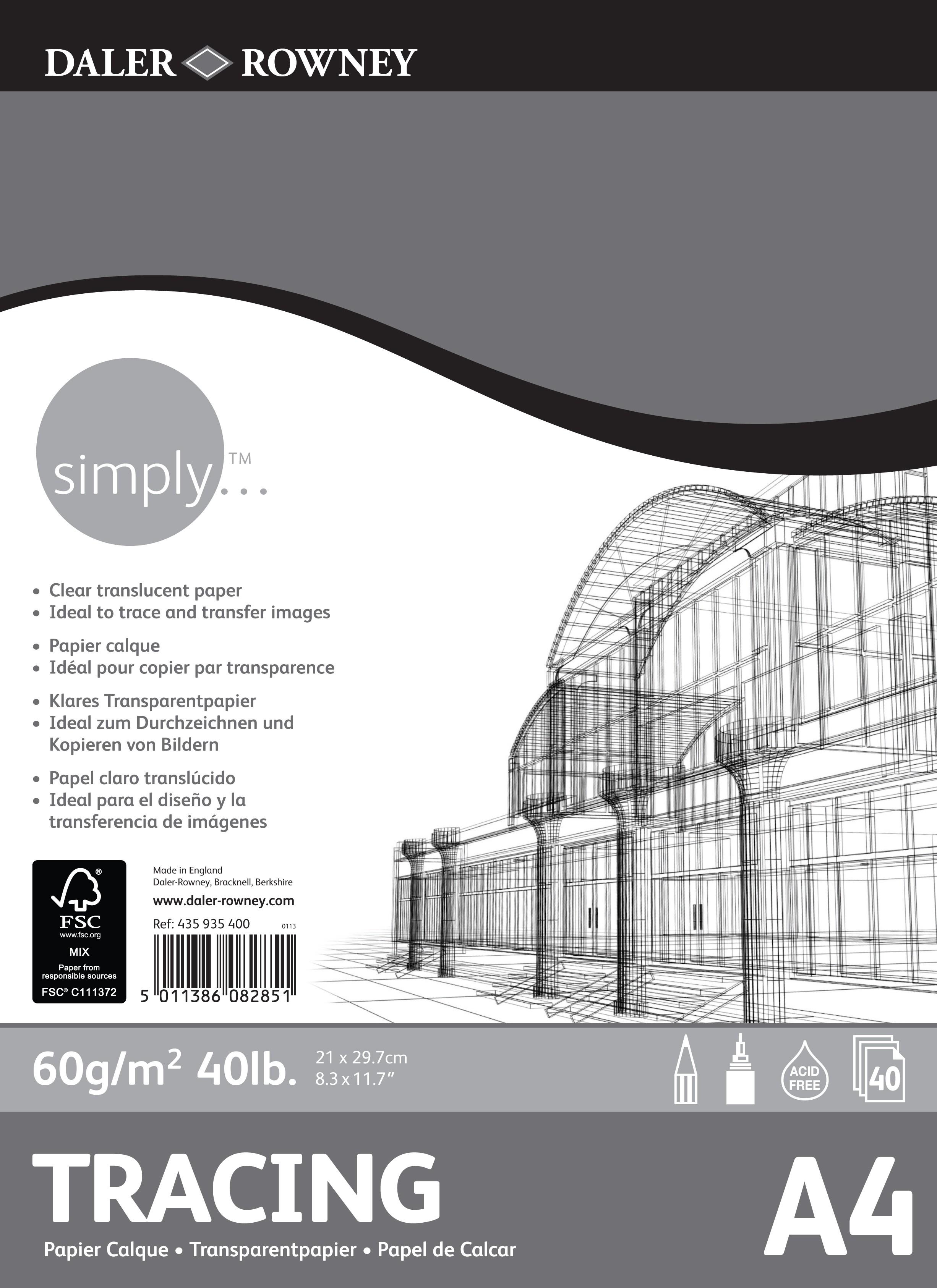 Blok Simply pauzovací papír 60g/m² - A4