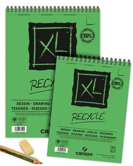 Skicovací blok XL - A4, recyklovaný, kroužková vazba