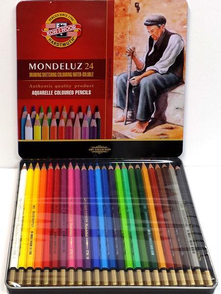 Akvarelové pastelky v plechu - 24 ks