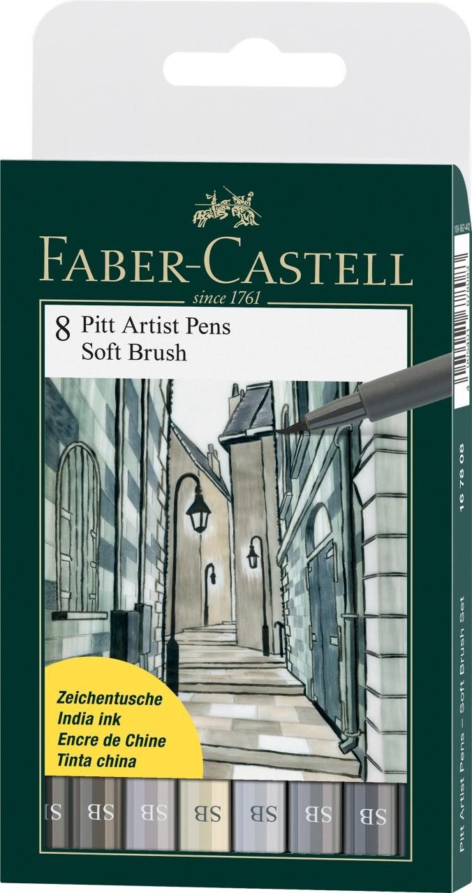PITT umělecké štětce set 8 - Soft Brush