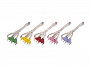 kord kabel barevné koncovky