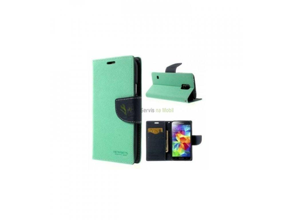 Knižkové púzdro Fancy Diary na Samsung Galaxy S7 tyrkysové