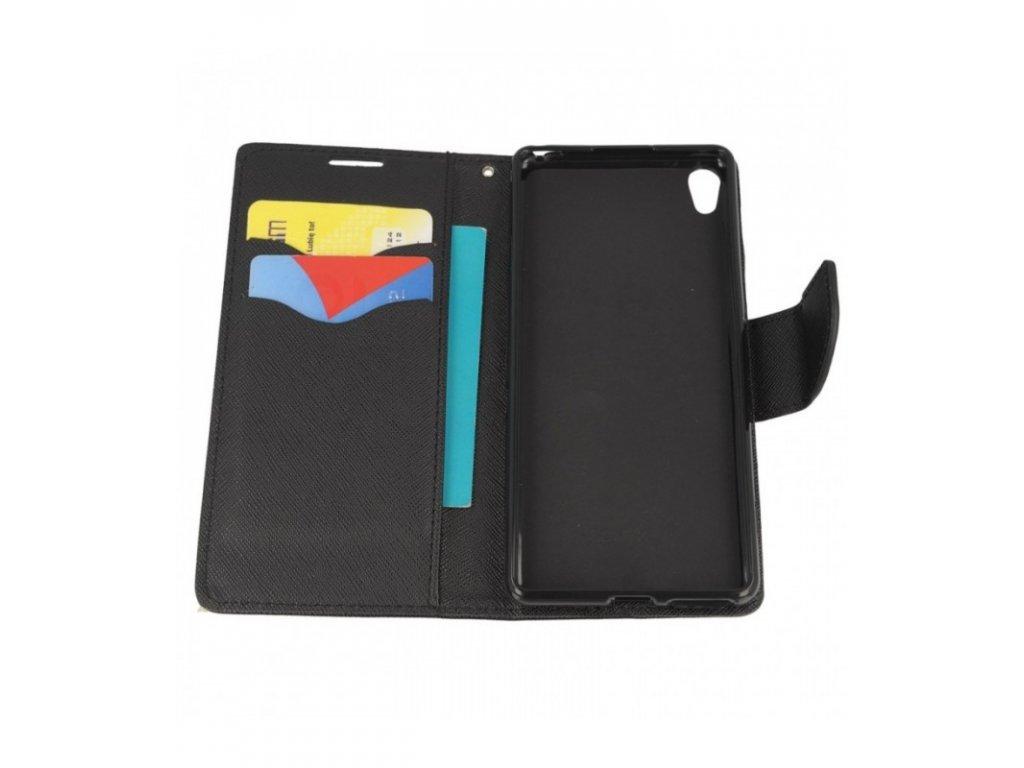 Knižkové puzdro Xperia XA čierna farba