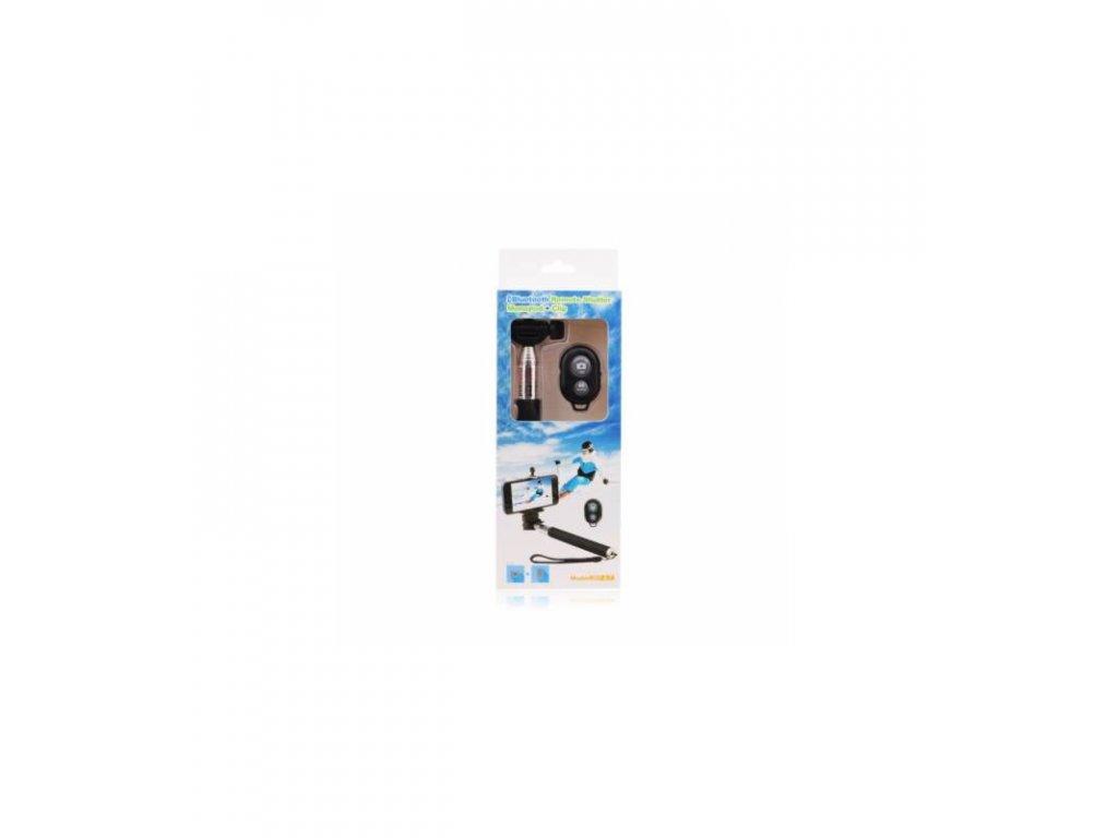 Bluetooth teleskopický selfie držiak s diaľkovým ovládačom + stativ čierny