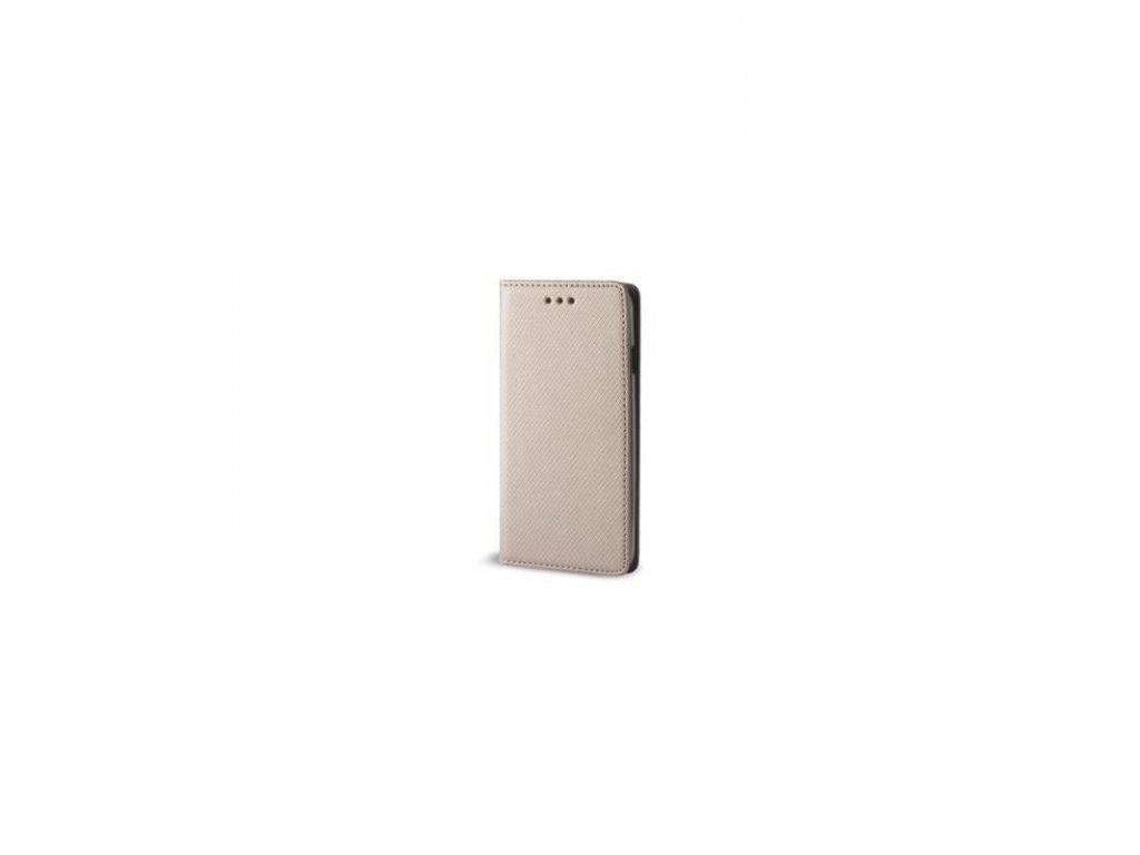 Puzdro Huawei P20 lite Smart Book knižkové zlatá farba