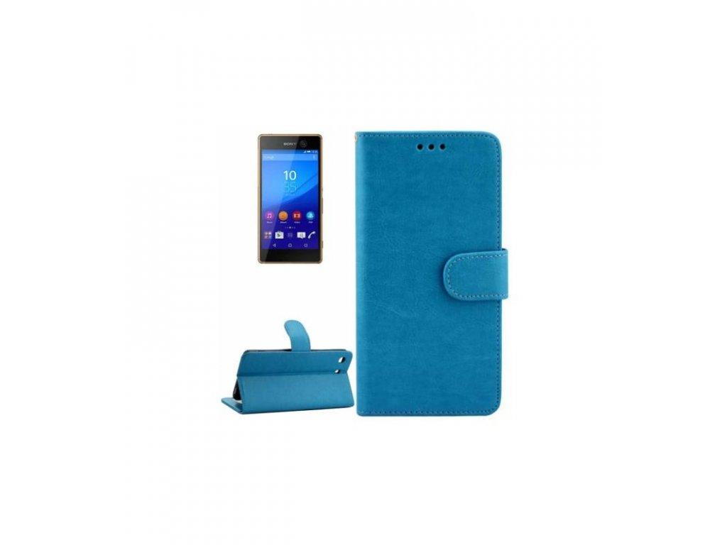 Púzdro Sony Xperia M5 knižkové modré