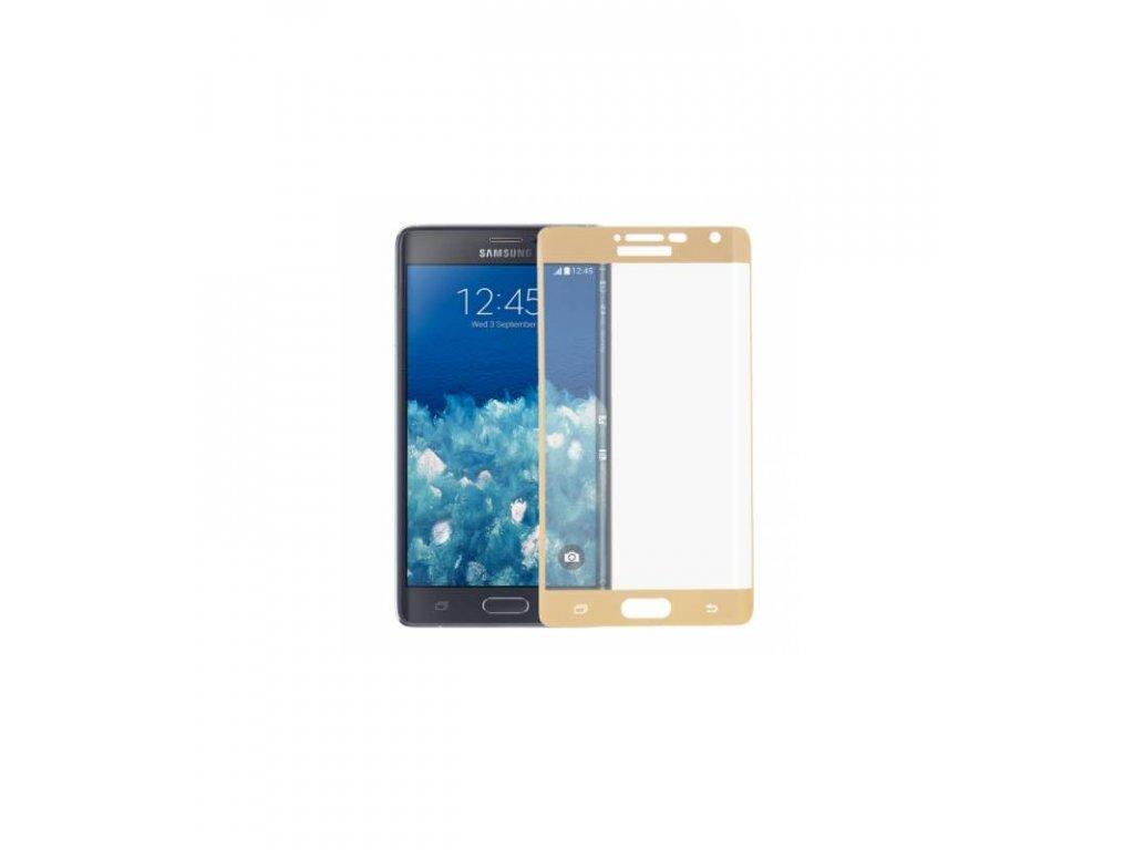 Ochranné tvrdené sklo Samsung Galaxy Note 4 Edge 3D zlatá farba