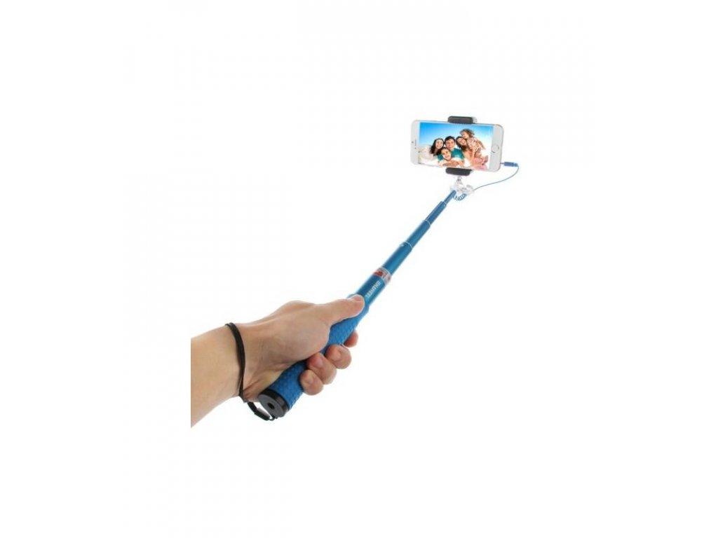 Selfie tyč HAWEEL s pripojením na 3,5mm jack 81cm dlhá so statívom