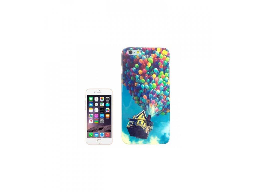 Silikónové púzdro iPhone 6 / iPhone 6S lietajúci domček