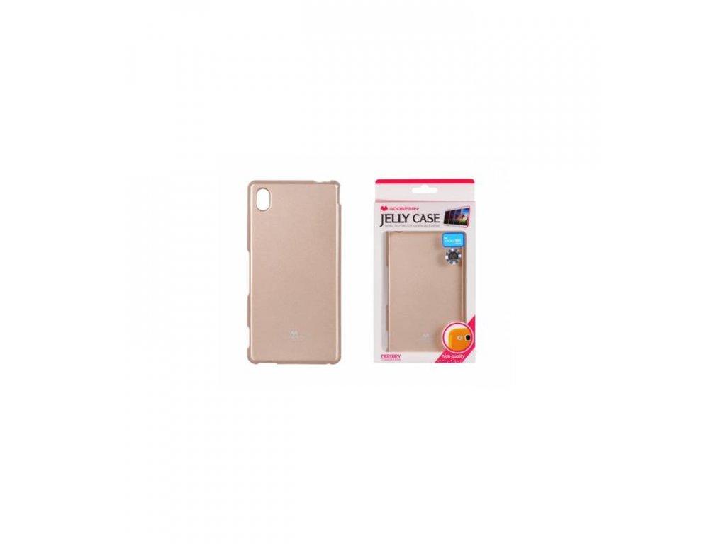 Púzdro Sony Xperia M4 Aqua, Jelly Case zlaté