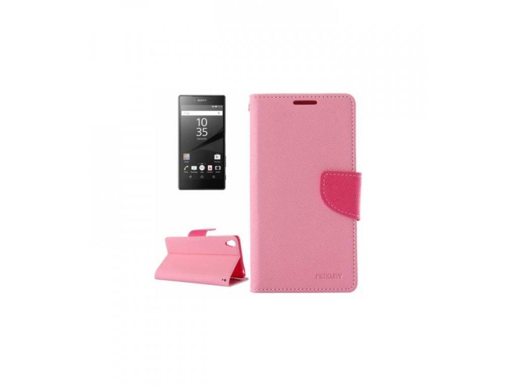 Púzdro Sony Xperia Z5 knižkové ružové Mercury Fancy Diary