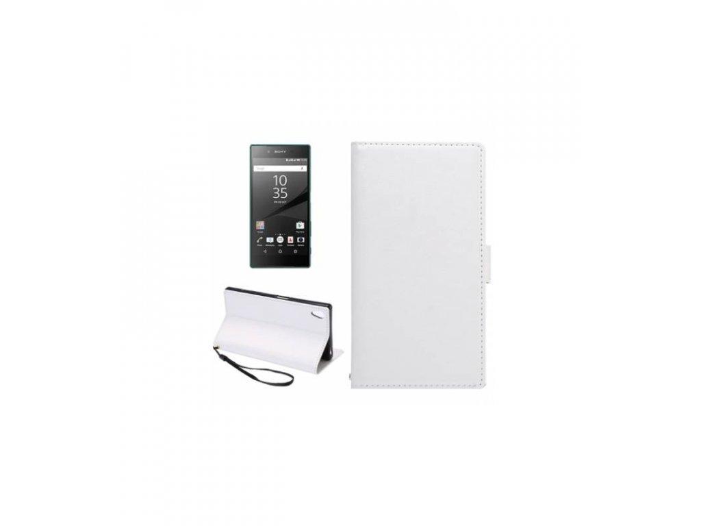 Knižkové púzdro na Sony Xperia Z5 biele