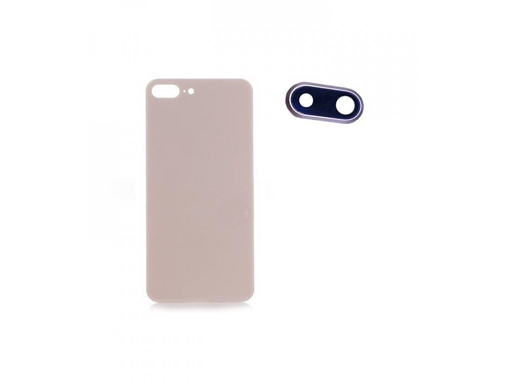 Zadný kryt so sklíčkom na kameru iPhone 8 Plus zlatá farba