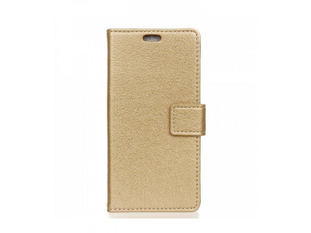 Puzdro knižkové Huawei Y5 2018 zlatá farba