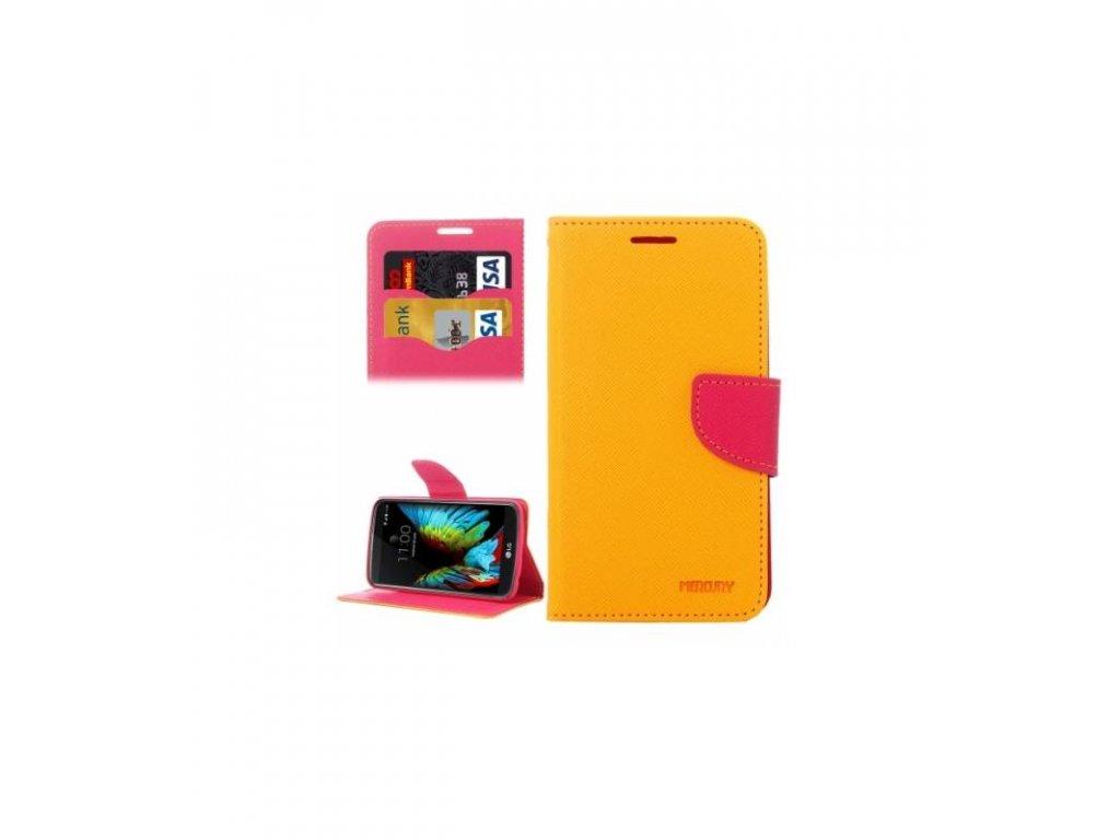 Knížkové puzdro Fancy Diary na LG K10 žlté
