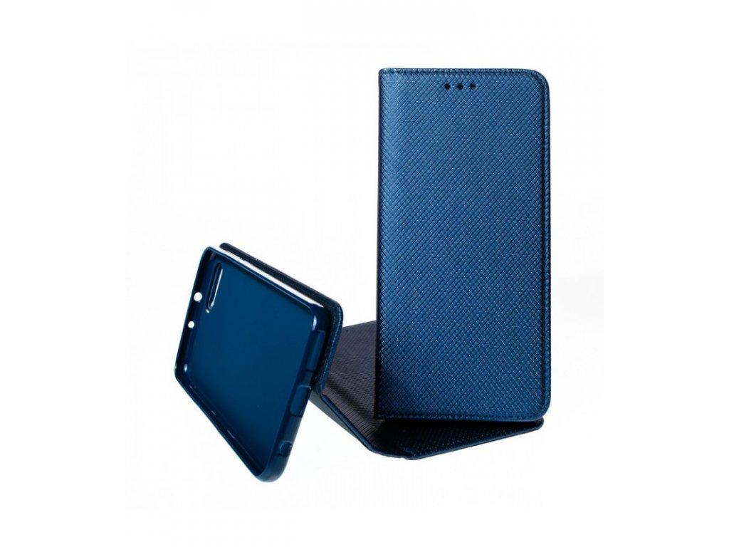 Puzdro Magnet Book Huawei Honor V10 knižkové tmavomodré