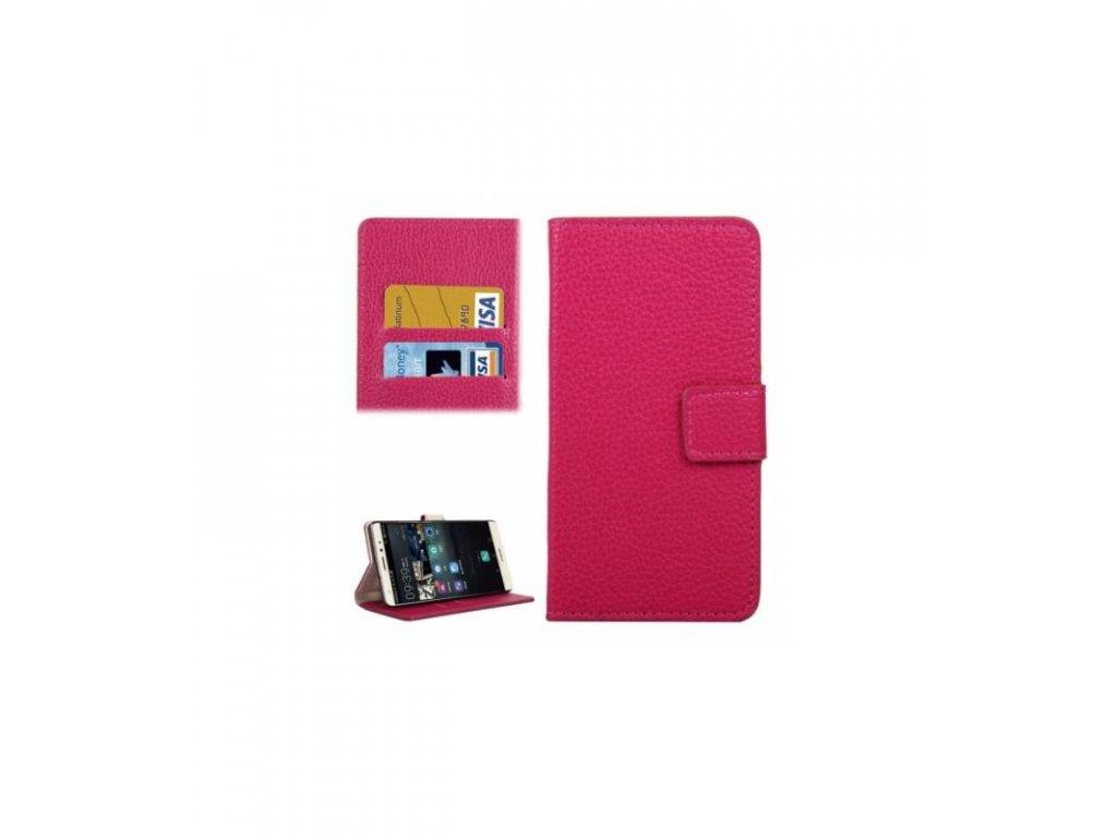 Knižkové puzdro Huawei Mate S ružová farba