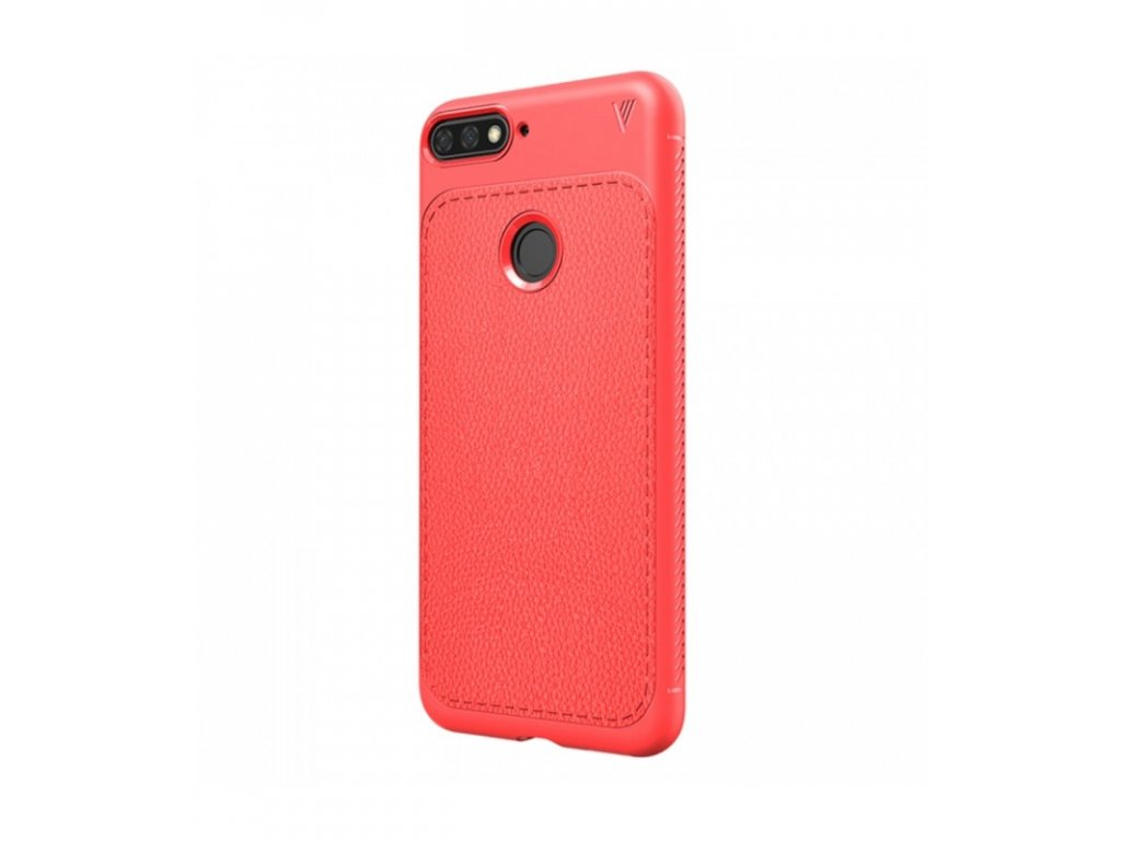 Puzdro Huawei Y6 2018 Litchi textúra červené