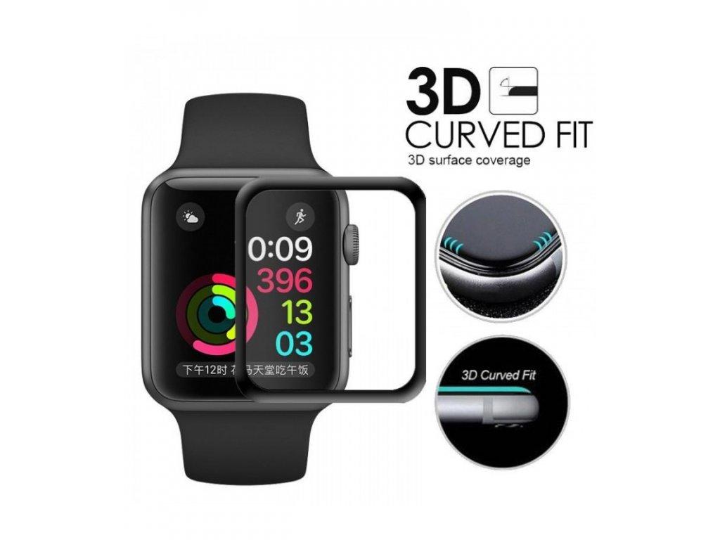 Ochranné tvrdené sklo Apple Watch 4-40mm 3D čierne