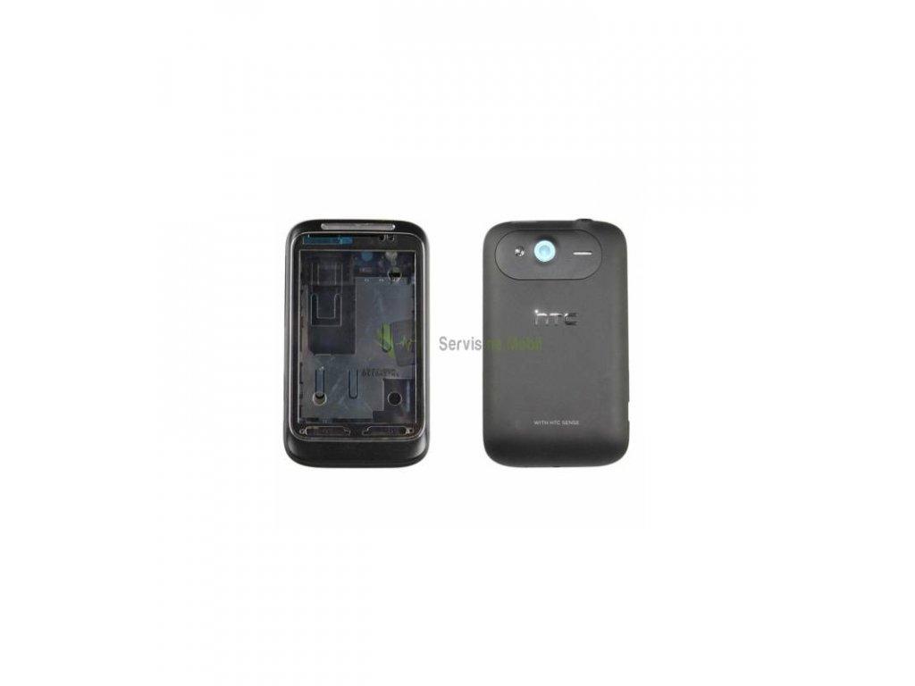 Komplet kryt HTC Wildfire S čierna farba