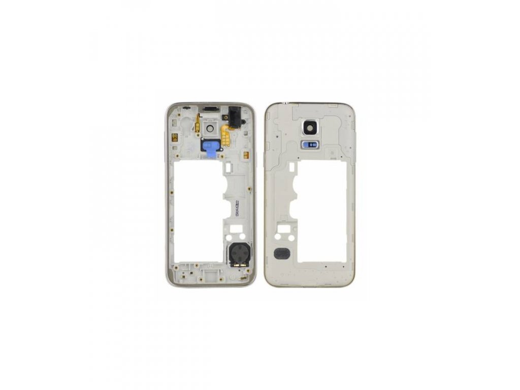 Stredový rám Samsung Galaxy S5 mini G800F biela farba