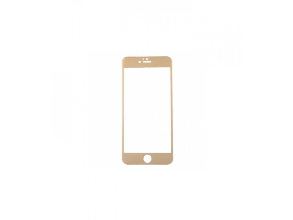 Ochranné tvrdené sklo iPhone 6 plus / iPhone 6S plus zrkadlovvé - zlatá farba
