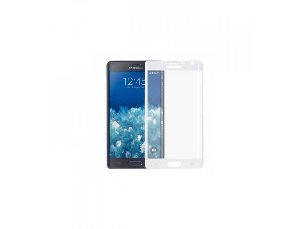Ochranné tvrdené sklo Samsung Galaxy Note 4 Edge 3D biela farba
