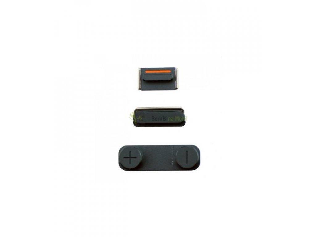Tlačítko on/off, volume, stlmenie hlasitosti iPhone 5 čierne