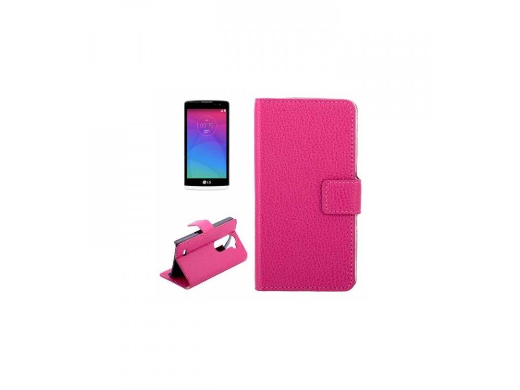 Knižkové púzdro LG Leon - ružová farba