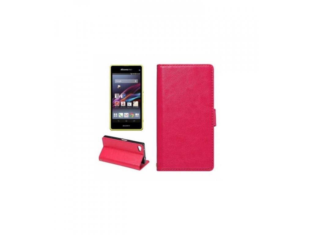 Púzdro Sony Xperia Z5 Compact knižkové ružové