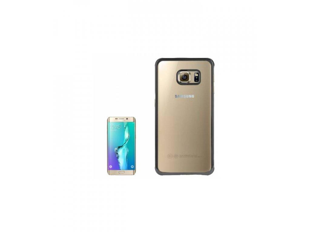 Priesvitné púzdro Samsung Galaxy S6 Edge Plus s čiernym orámovaním