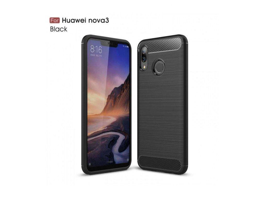 Puzdro Huawei Nova 3 karbónová textúra čierne