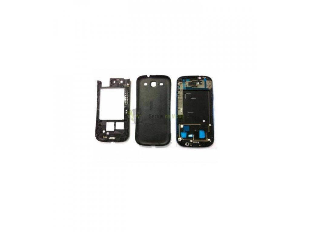 Komplet kryt Samsung i9300 S3 čierna farba