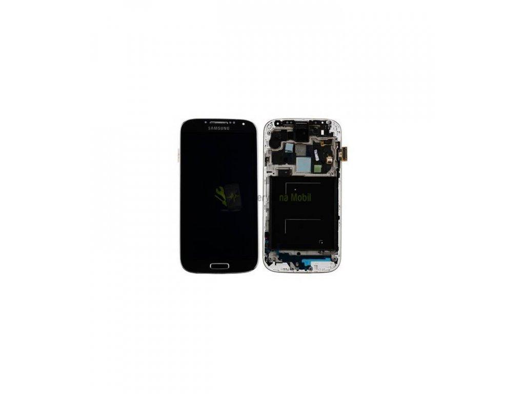 LCD displej a dotyková plocha s rámom Samsung Galaxy S4 i9505 - čierna farba