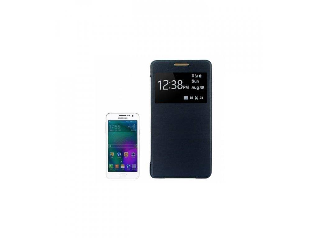 Púzdro Samsung Galaxy A3 A300 s okienkom čierna farba