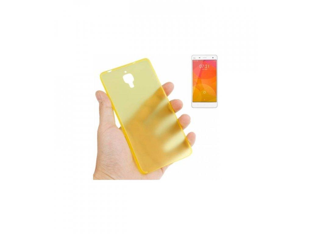 Puzdro Xiaomi MI4 ultra tenké žlté