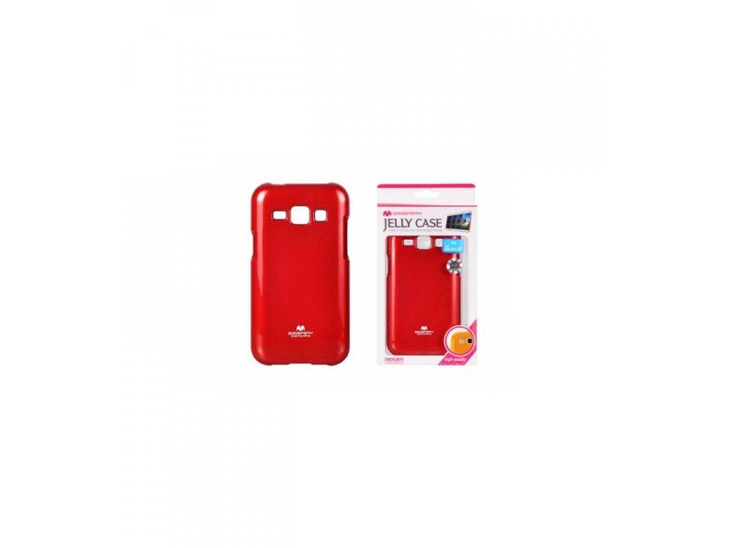 Púzdro Samsung Galaxy J1, Jelly Case červené