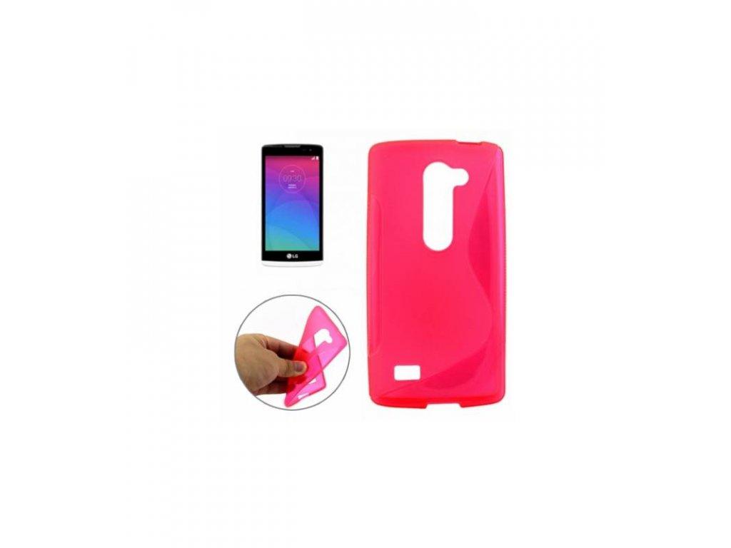 Silikónové púzdro LG Leon - ružová farba