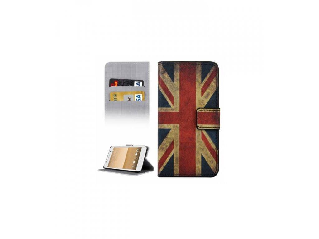 Puzdro HTC One A9 Anglická vlajka