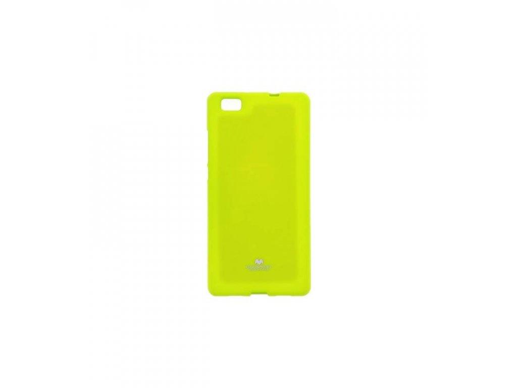 Silikonové púzdro Jelly Case na Huawei P8 lite limetkové