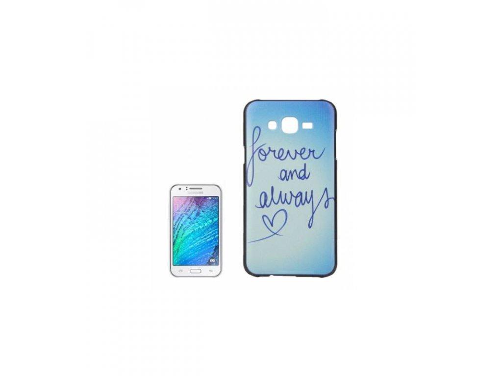 Puzdro Samsung Galaxy J5 s potlačou forever and always
