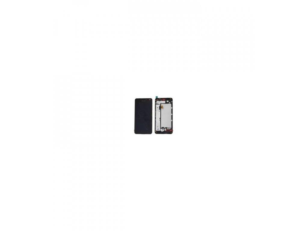 LCD Displej + Dotykové sklo + Rám Nokia Lumia 650 čierna farba