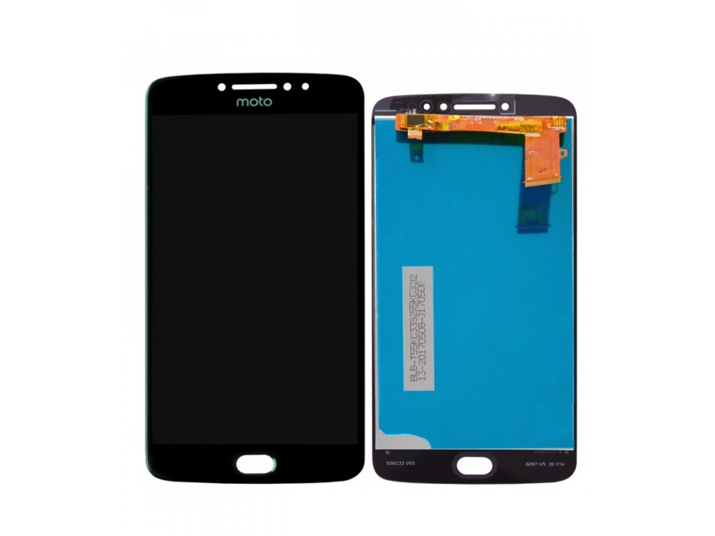 LCD Displej + Dotykové sklo Motorola Moto E4 Plus Čierna farba