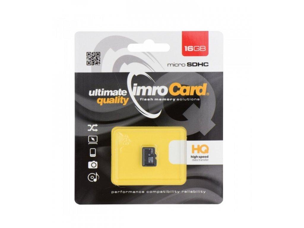Pamäťová karta microSD 16GB Imro bez adaptéru