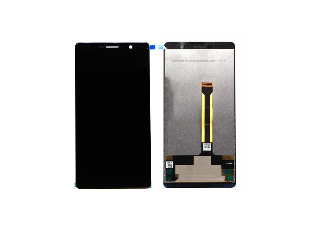 LCD Displej + Dotykové sklo Nokia 7 Plus čierna farba